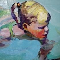 """Acquatico"" by Claudio Malacarne (olio su tela, 50 x 50 cm, 2011)"