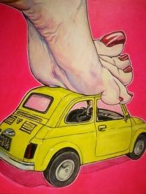 """Vroom"" by Giuseppe Petrilli (acrilico su tela, 50 x 50 cm, 2011)"