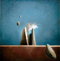 """Il Rifugio"" by Ciro Palumbo, olio su tela cm 50x50"