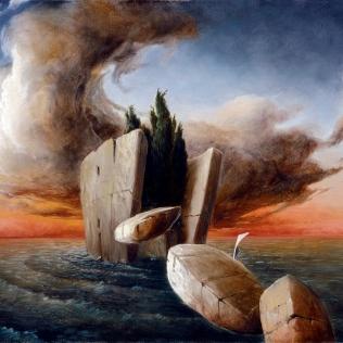 """Pensieri in viaggio"" by Ciro Palumbo, olio su tela cm. 30x40"