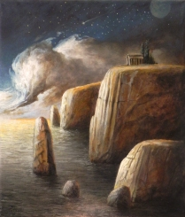 """Luoghi"" by Ciro Palumbo, olio su tela cm 35x30"