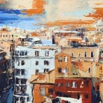 """Roma"" by Sandro Bini (olio su tela, 85 x 40 cm, 2011)"