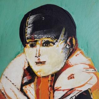 """Remo Brindisi """"Pastorale"""" olio su tela cm 20x30, 1970"""