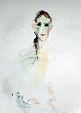 """Ernesto Treccani """"Volto"""" olio su tela cm55x70, 1970"""