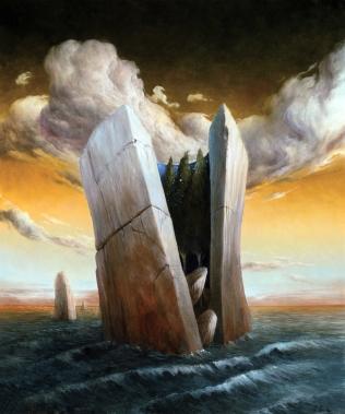 """""""Un sogno nascosto"""" by Ciro Palumbo, olio su tela cm 60x50"""