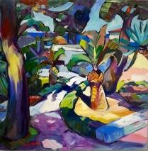"""""""Giardino"""" by Claudio Malacarne, olio su tela cm 60x60"""
