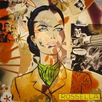 """""""Rossella"""" by Cristina Stifanic – tecnica mista su tela emulsionata, 80 x 80 cm, 2011"""