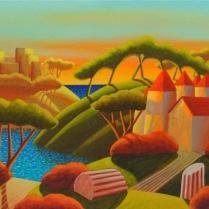 """""""Ti vedo felice"""" by Luca Dall'Olio (tecnica mista su tela 80 x 40 cm, 2010)"""