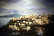 """Sorrento"" by Franco Tomassoli (olio su tela 50 x 70 cm, 2008)"