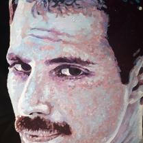 """Freddie"" by Piero Vinci (acrilico su vinile 33 giri, 2013)"