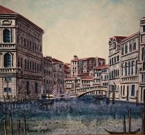 """""""Rio di Cannaregio"""" by Tonino Caputo (tempera ed olio su tela, 20 x 20 cm, 2010)"""
