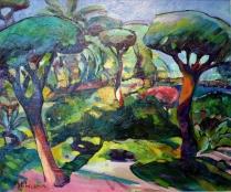 """""""Giardino"""" by Claudio Malacarne (olio su tela 50 x 60 cm, 2011)"""