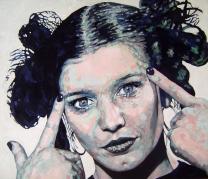 """Lili Marlene"" by Piero Vinci, acrilico su tavola cm 55x65"