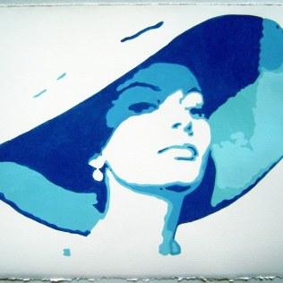 """Piero Vinci: """"Sofia Sunset"""" acrilico su carta d'Amalfi cm 51x36"""