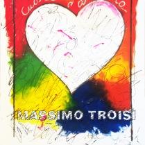 "Enrico Manera ""Cuore d'artista"" olio su carta d'Amalfi 52x72 cm"