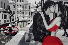 """Silvia Papas """"Never stop dreaming"""" serigrafia su carta 80x120 cm"""