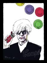 "Fabio Govoni""Andy Bowie"" T.mista su carta d'Amalfi ""Amatruda"" 50x70 cm"