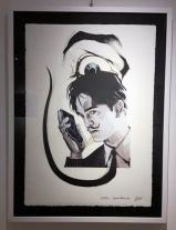 """Fabio Govoni """"Salvador Pattinson"""" T.mista su carta d'Amalfi """"Amatruda"""" 50x70 cm"""