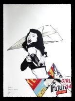 "Fabio Govoni""Bettie Mol"" T.mista su carta d'Amalfi ""Amatruda"" 50x70 cm"