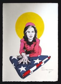 """Fabio Govoni""""Jacqueline Portman"""" T.mista su carta d'Amalfi """"Amatruda"""" 50x70 cm"""