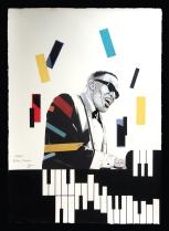 "Fabio Govoni""Ray Foxx"" T.mista su carta d'Amalfi ""Amatruda"" 50x70 cm"
